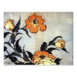 Katsushika Hokusai's Poppies Card
