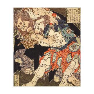 Katsushika Hokusai's 'Sumo Wrestlers' Canvas Print