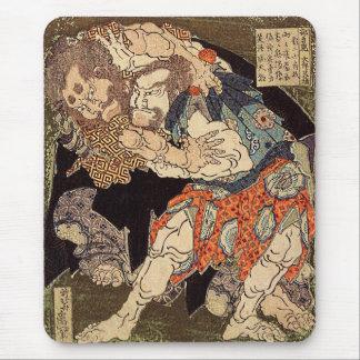 Katsushika Hokusai's 'Sumo Wrestlers' Mouse Pad