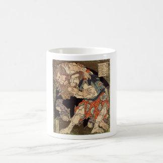 Katsushika Hokusai's 'Sumo Wrestlers' Mug
