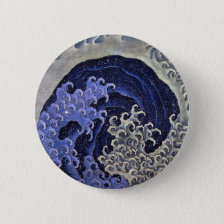 Katsushika north 斎, Feminine-wave Button