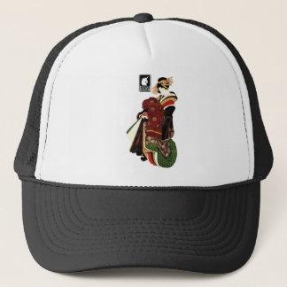 Katsushika north 斎 harlot figure (black) trucker hat
