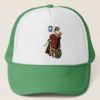 Katsushika north 斎 harlot figure (blue) trucker hat