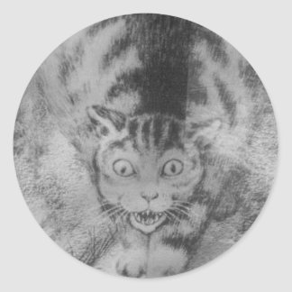 Katt by Theodor Severin Kittelsen Classic Round Sticker