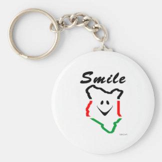 KattCraft: Kenyan Smile Basic Round Button Keychain