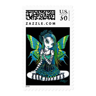 """Katy"" Green Tattoo Faerie Postage"