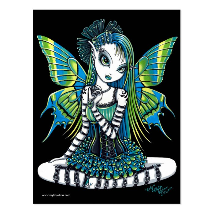 Katy green tattoo fairy postcard zazzle for Tattoo shops katy texas