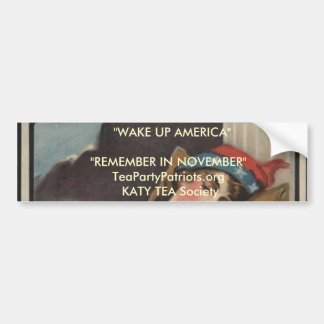 Katy Tea Party Society Car Bumper Sticker