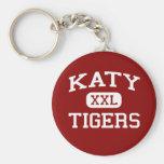 Katy - Tigers - Katy High School - Katy Texas Basic Round Button Keychain
