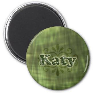 Katy verde imán redondo 5 cm
