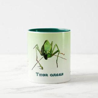 Katydid Earth Day Two-Tone Coffee Mug