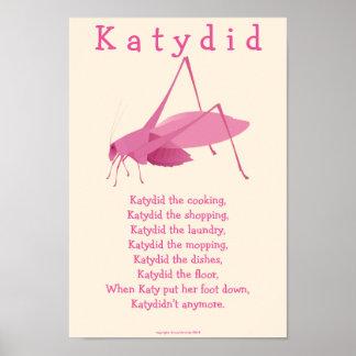 Katydid Póster