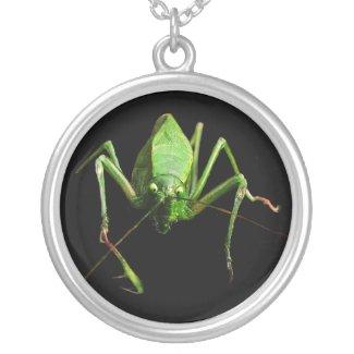 Katydid Round Pendant Necklace