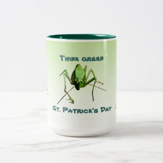 Katydid St. Patricks Day Two-Tone Coffee Mug