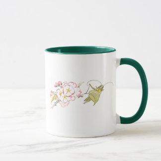 Katydid with Cherry Blossoms Mug