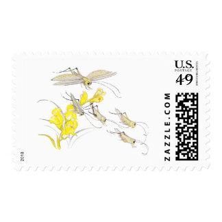Katydids and Toadflax Stamps