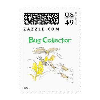 Katydids Bug Collector Stamps