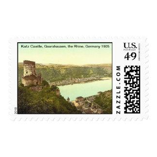 Katz Castle, Goarshausen,the Rhine, Germany Postage