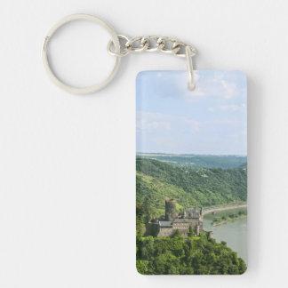 Katz Castle Single-Sided Rectangular Acrylic Keychain
