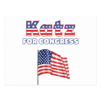 Katz para el diseño patriótico de la bandera postales