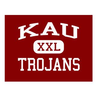 Kau - Trojans - Kau High School - Pahala Hawaii Postcard