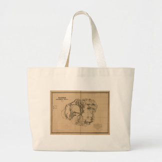 Kauai, 1878, Vintage Hawaii Map Large Tote Bag