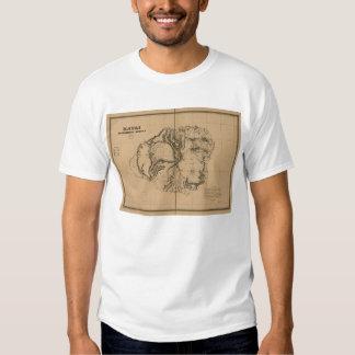 Kauai, 1878, Vintage Hawaii Map T Shirt