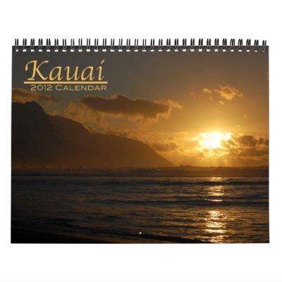 Kauai 2012 wall calendars