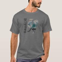 Kauai Chicken Rooster Hawaii Surf Wave Design T-Shirt