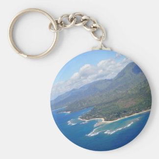 Kauai Coast Basic Round Button Keychain
