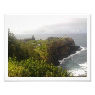 """Kauai Coastline Lighthouse"" Poster Photo Print"