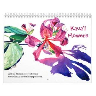 Kauai Flowers Calendar