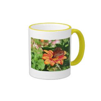 Kauai Hawaii Butterfly Ringer Mug