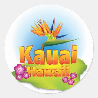Kauai, Hawaii Desgin Classic Round Sticker