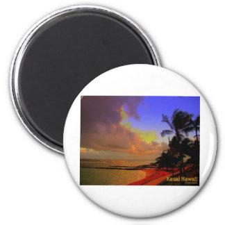 Kauai Hawaii Imán Redondo 5 Cm