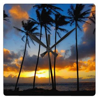 Kauai, Hawaii - Kapa'a Sunrise- Clock Design