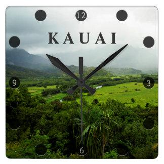 Kauai, Hawaii Landscape Scene Square Wall Clock