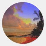 Kauai Hawaii Pegatina Redonda