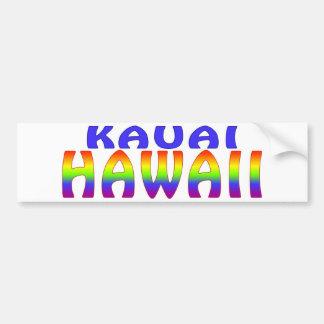 Kauai Hawaii rainbow words Car Bumper Sticker
