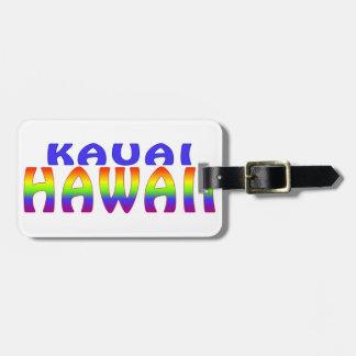 Kauai Hawaii rainbow words Luggage Tags