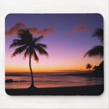 Hawaiian Themed Kauai Hawaii Sunset Mousepad
