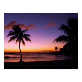 Kauai Hawaii Sunset Postcard