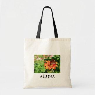 Kauai Hawaiian Aloha Butterfly Tote Bag