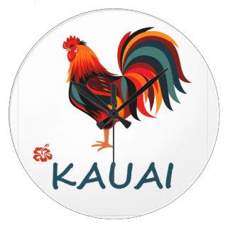 Kauai Hawaiian Rooster Country Clock