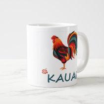 Kauai Hawaiian Rooster Jumbo Mug