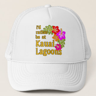 Kauai Lagoons I'd Rather be at Kauai Lagoon Hawaii Trucker Hat