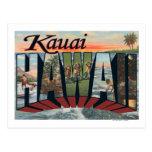 Kauai, letra ScenesKauai, HI de HawaiiLarge Postal