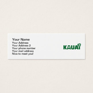 Kauai business cards templates zazzle kauai mini business card reheart Image collections