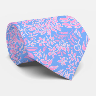Kauai Morning Hawaiian Protea Floral Neck Tie
