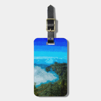 Kauai Na Pali Coast From Koke'e Abstract Bag Tag